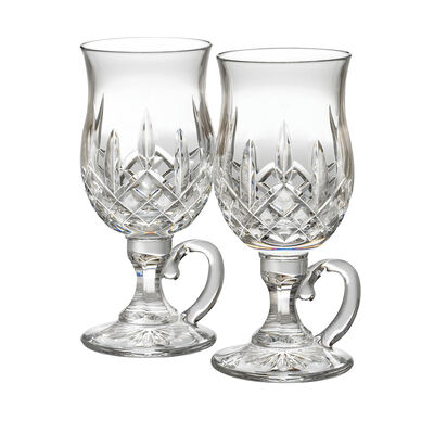 "Waterford Crystal ""Lismore"" Set of 2 Irish Coffee Glasses"