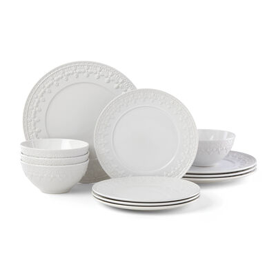 """Lenox """"Chelse Muse"""" Fleur White Ironstone Dinnerware Set, , default"""