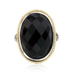 Andrea Candela Black Onyx Doublet Ring in Two-Tone, , default