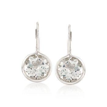 11.00 ct. t.w. Bezel-Set White Topaz Earrings in Sterling Silver, , default