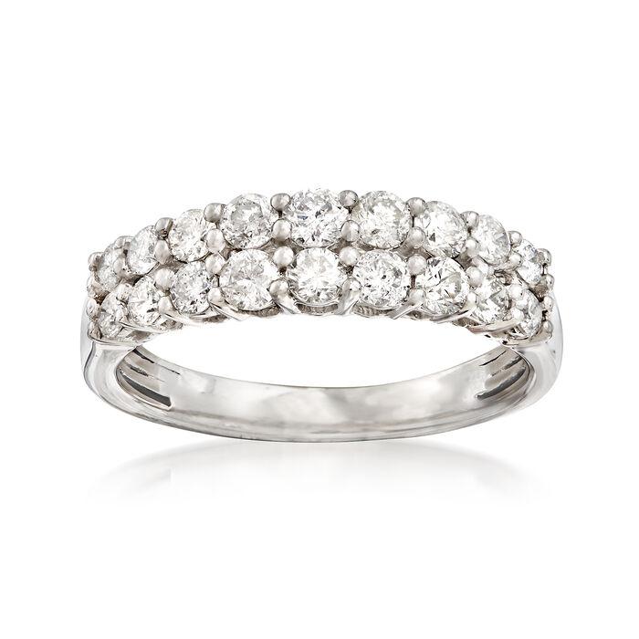 1.00 ct. t.w. Diamond Double-Row Ring in Platinum, , default