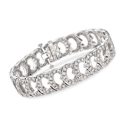 C. 1990 Vintage 6.25 ct. t.w. Diamond Fancy Link Bracelet in Platinum , , default