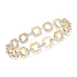 "Roberto Coin ""Pois Moi"" 1.70 ct. t.w. Diamond Link Bracelet in 18kt Two-Tone Gold. 7"", , default"