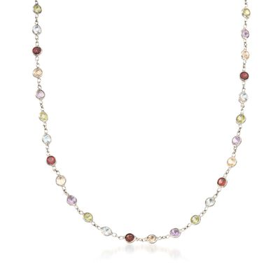 8.85 ct. t.w. Multi-Stone Necklace in Sterling Silver