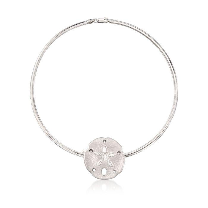 Sterling Silver Sand Dollar Necklace, , default