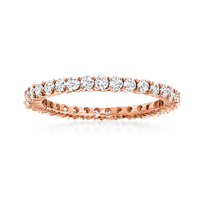 1.00 ct. t.w. Diamond Eternity Band in 14kt Rose Gold