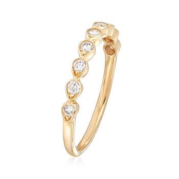Henri Daussi .26 ct. t.w. Diamond Wedding Ring in 14kt Yellow Gold