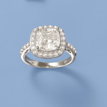 3.55 ct. t.w. CZ Ring in Sterling Silver, , default