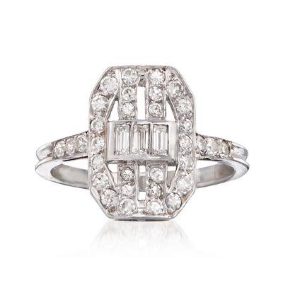 C. 1990 Vintage .80 ct. t.w. Diamond Cocktail Ring in Platinum
