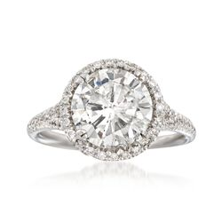 Majestic Collection 3.06 ct. t.w. Diamond Halo Ring in 18kt White Gold, , default