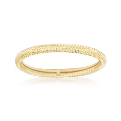 18kt Yellow Gold Twisted Ring, , default