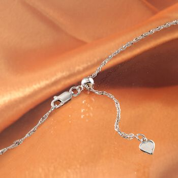 Italian 1.5mm Sterling Silver Adjustable Singapore Chain Necklace , , default