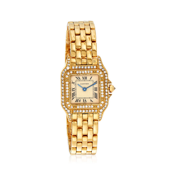 Pre-Owned Panthere De Cartier Women's 23mm 18kt Yellow Gold Watch