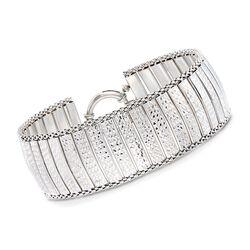 Sterling Silver Diamond-Cut Multi-Bar Bracelet, , default