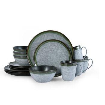 """Mikasa """"Willa"""" Green 16-pc. Service for 4 Dinnerware Set"""