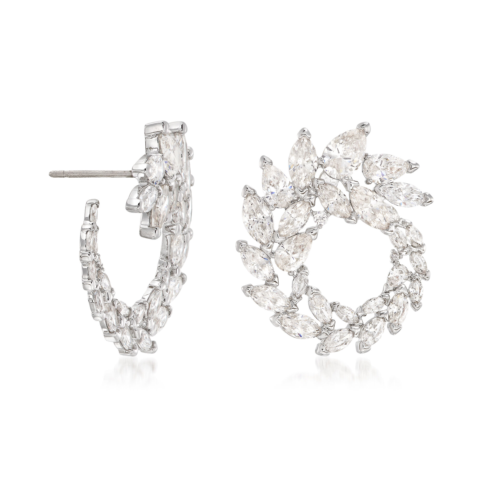 Rhinestone crystal fashion Stud Earrings  Round Sparkle /& Shine Chic Bride GIFT