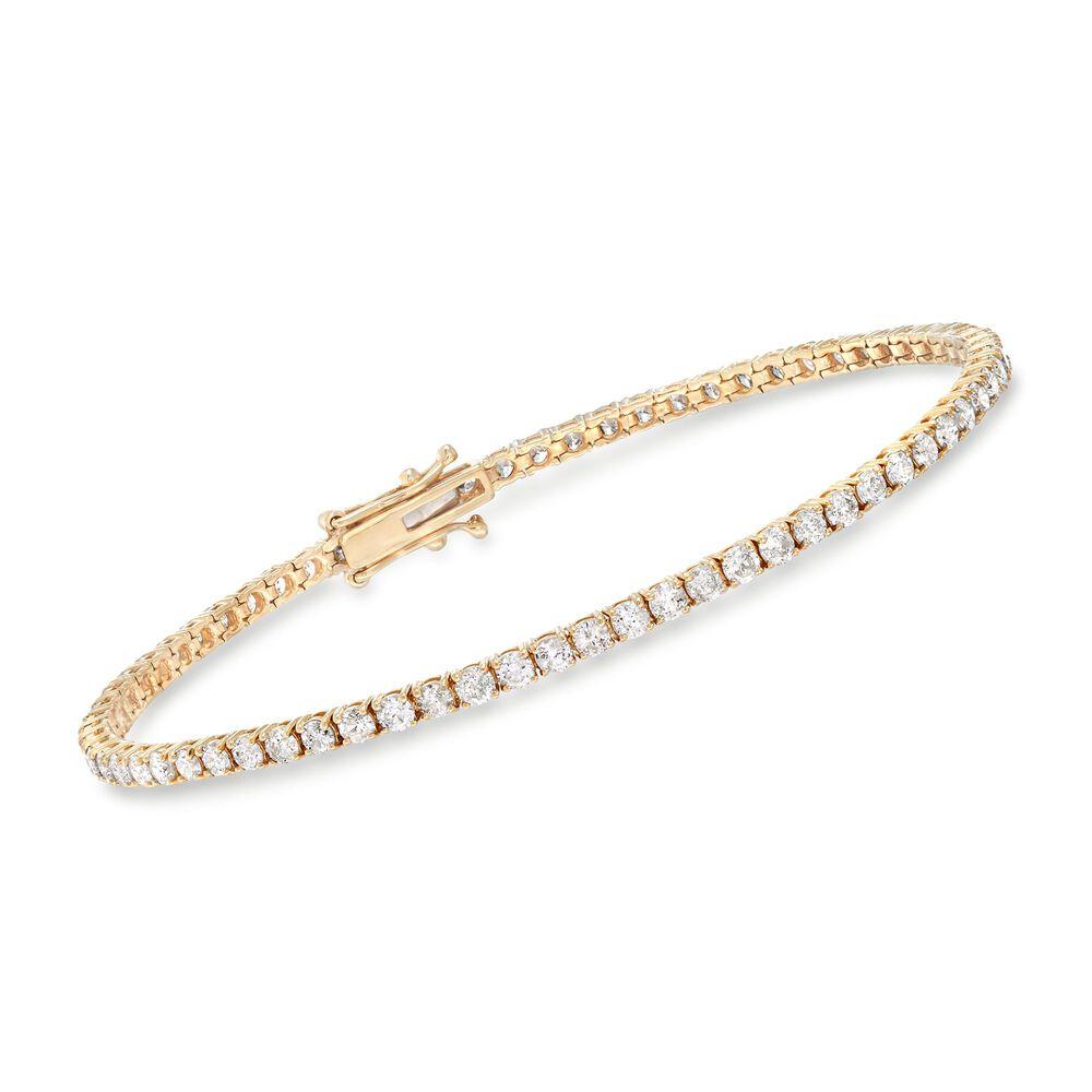 3 50 Ct T W Diamond Tennis Bracelet In 14kt Yellow Gold 7
