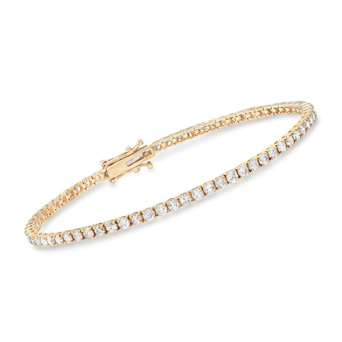 3.50 ct. t.w. Diamond Tennis Bracelet in 14kt Yellow Gold, , default