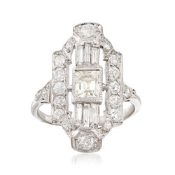 C. 2000 Vintage 1.87 ct. t.w. Diamond Dinner Ring in Platinum, , default