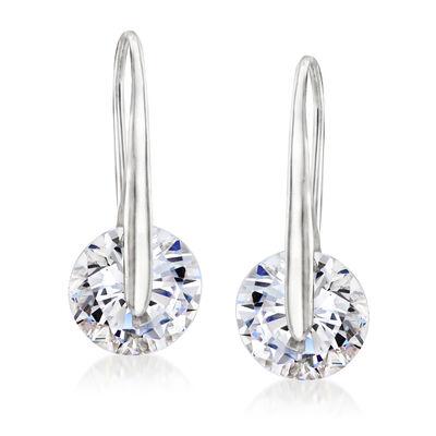 7.00 ct. t.w. CZ Drop Earrings in Sterling Silver, , default