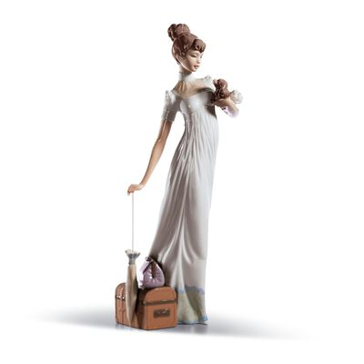 "Lladro ""Traveling Companion"" Porcelain Figurine"