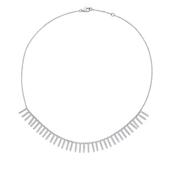"""1.50 ct. t.w. Diamond Necklace in 14kt White Gold. 15.25"""""""