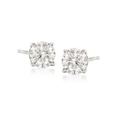 .75 ct. t.w. Diamond Stud Earrings in 14kt White Gold , , default