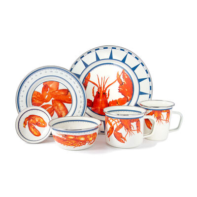 "Golden Rabbit ""Lobster"" Dinnerware"