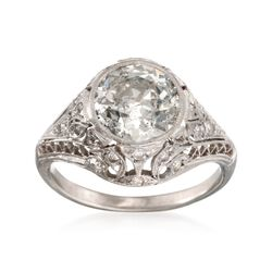 C. 1990 Vintage 3.40 ct. t.w. Certified Diamond Ring in Platinum, , default