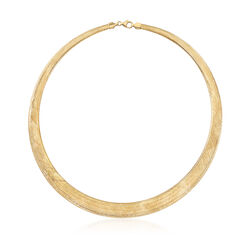 Italian 18kt Yellow Gold Lightweight Mesh Collar Necklace, , default