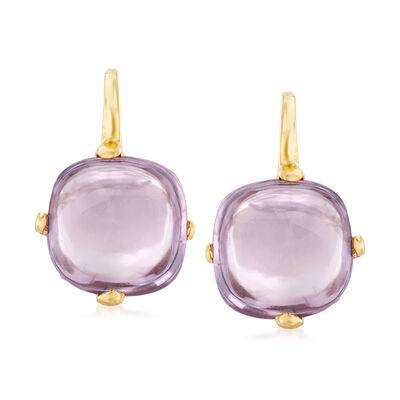 Italian 4.00 ct. t.w. Amethyst Drop Earrings in 14kt Yellow Gold, , default