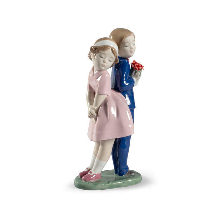 "Nao ""Flowers for You"" Porcelain Figurine"