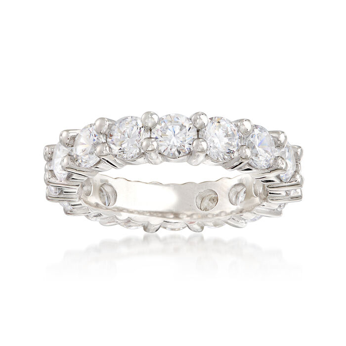 3.45 ct. t.w. CZ Eternity Band in Sterling Silver, , default