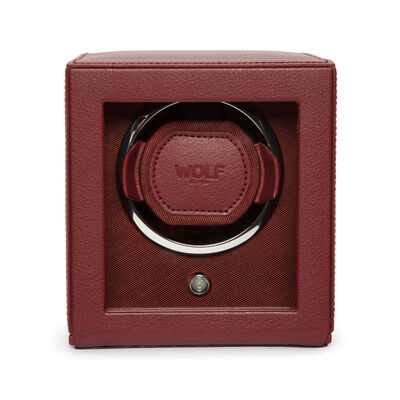 "Wolf ""Cub"" Bordeaux Leather Watch Winder, , default"