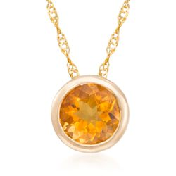 .70 Carat Citrine Pendant Necklace in 14kt Yellow Gold, , default