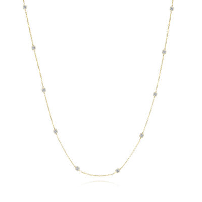 3.40 ct. t.w. Diamond Station Necklace in 14kt Yellow Gold, , default