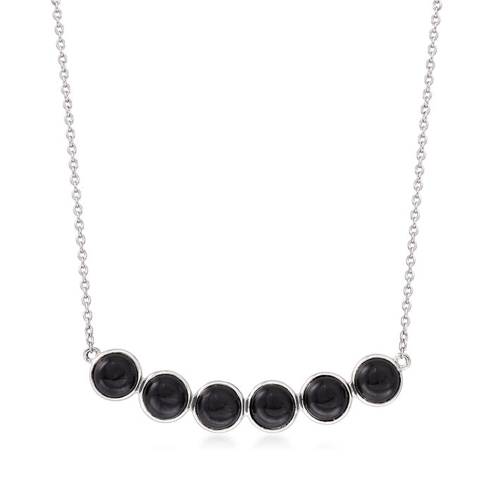 Black Onyx Necklace in Sterling Silver
