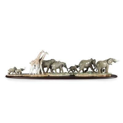 Lladro African Savannah Porcelain Figurine Set, , default