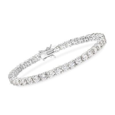 10.00 ct. t.w. CZ Tennis Bracelet in Sterling Silver, , default