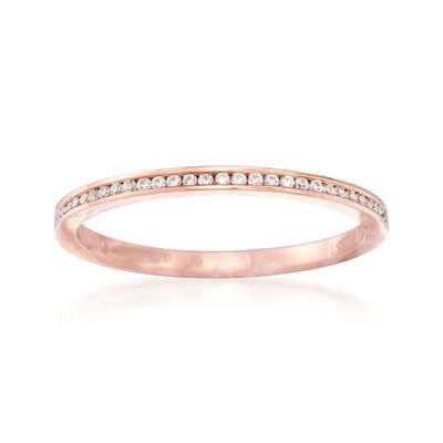 Henri Daussi .10 ct. t.w. Diamond Wedding Ring in 18kt Rose Gold, , default