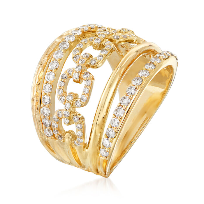 1.00 ct. t.w. Diamond-Link Ring in 14kt Yellow Gold