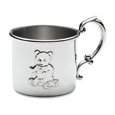 Empire Pewter Teddy Bear Baby Cup, , default
