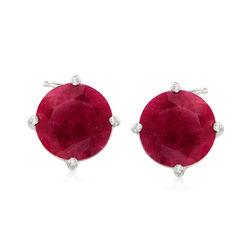 4.00 ct. t.w. Ruby Stud Earrings in Sterling Silver, , default