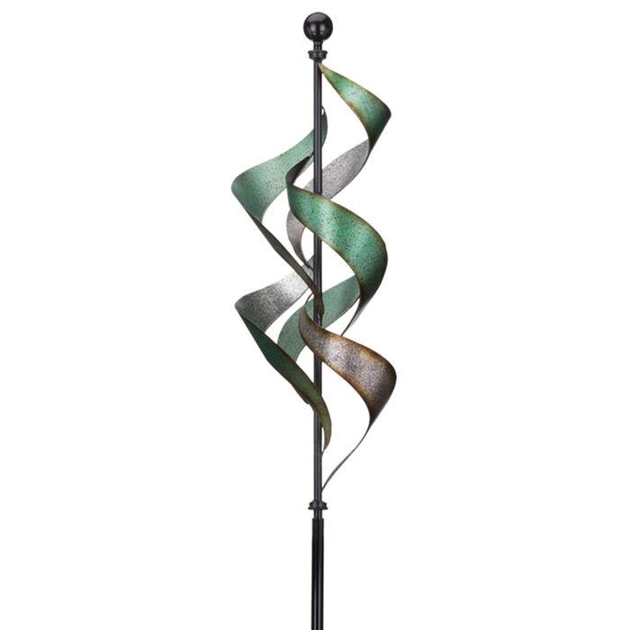 Regal Vertical Waterfall Metal Outdoor Wind Spinner, , default