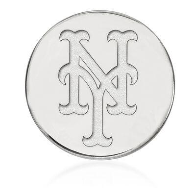 Sterling Silver MLB New York Mets Lapel Pin, , default
