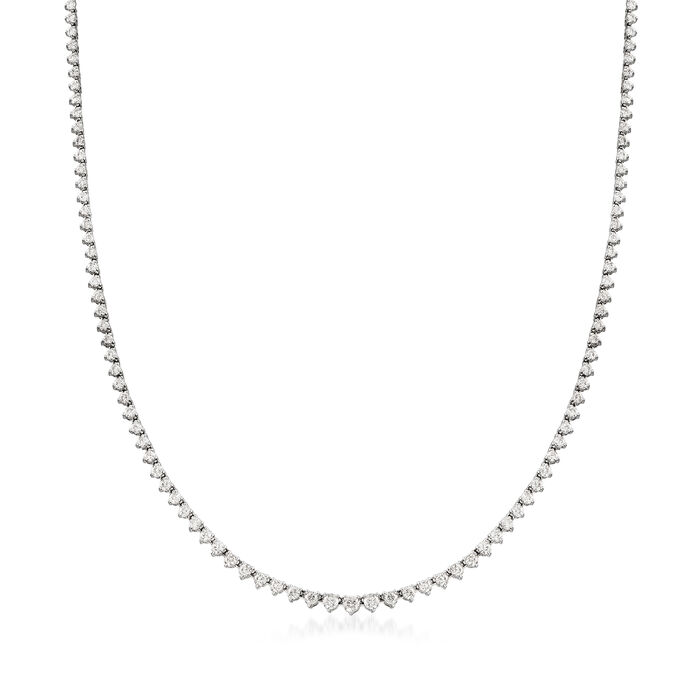 5.00 ct. t.w. Diamond Tennis Necklace in 14kt White Gold, , default