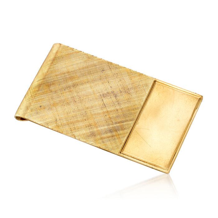 C. 1970 Vintage Men's 14kt Yellow Gold Textured Money Clip