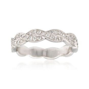 .31 ct. t.w. Diamond Woven Ring in 14kt White Gold. Size 7, , default