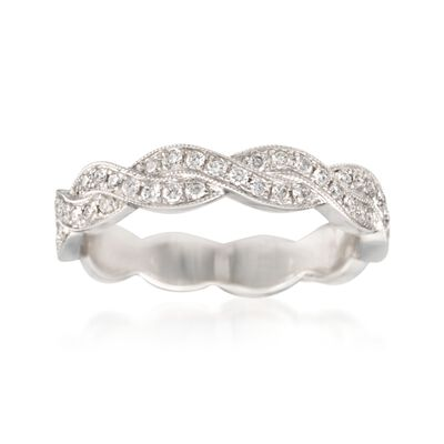 .31 ct. t.w. Diamond Woven Ring in 14kt White Gold, , default