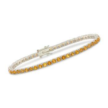 "5.00 ct. t.w. Citrine Tennis Bracelet in Sterling Silver. 7.5"", , default"